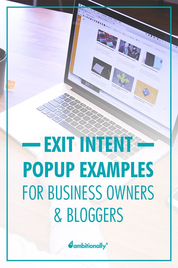 exit intent popup examples